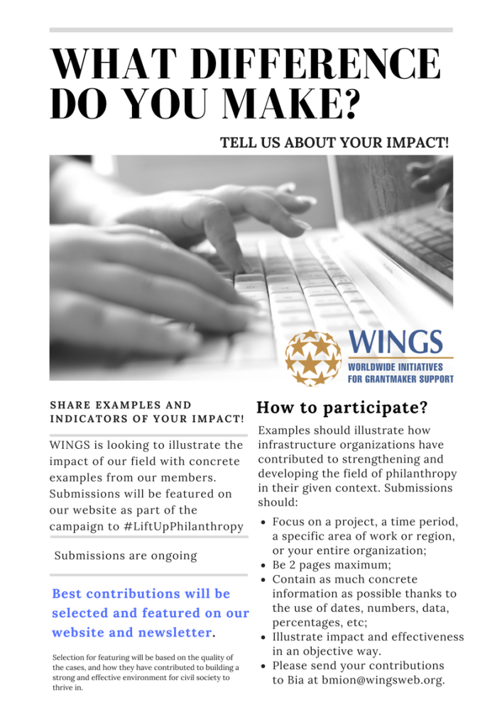 What Difference Do You Make? (EXTENDED DEADLINE)