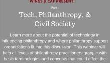 Disruptive Tech and Philanthropy Webinar Series