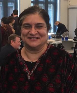 Puja Marwaha accepts the 5th Olga Alexeeva Memorial Prize at WINGS Funders Meeting